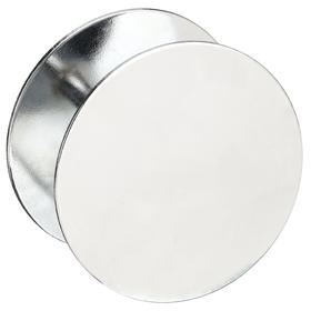 Cover Plate: For 1 3/4 in Door Thickness, For 1 1/2 in Bore Hole Dia, Steel, Chrome Plated