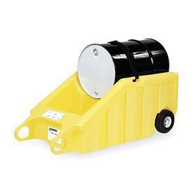 Dolly: 1 Drums, Dispensing Dolly, 600 lb Max Load Capacity, 70 gal Spill Capacity, HDPE, 69 in Lg, 32 1/2 in Wd