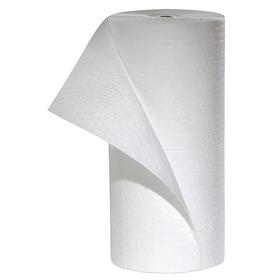 Roll for Oil Based Spills: Perforated Roll, 32 gal Max Absorbency Volume per Pack, Medium Absorbency Wt, 30 in Wd, White