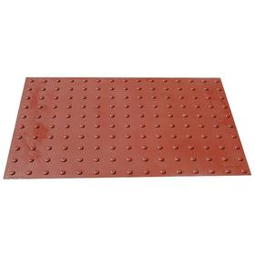 ADA Pad: 5 ft Overall Lg, 2 ft Overall Wd, ADA 49 CFR 37.9, Red, 18 Haz Material Indicator, (1) Adhesive/(1) Anchors
