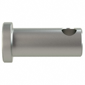 Clevis Pin: 18-8 Stainless Steel, 5/16 in Shank Dia, 17/32 in Usable Lg, 3/4 in Overall Lg, 0.44 in Head Dia, 0.1 in Head Ht, 5 PK
