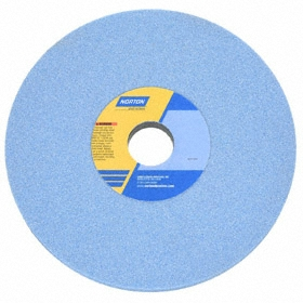 Norton High Performance Grinding Wheel: Ceramic Alumina, Medium Relative Grit Grade, 7 in Wheel Dia, 1/2 in Wheel Thickness, Blue, 5 PK