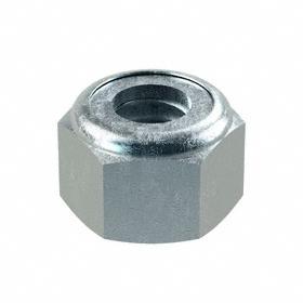 """Nylon Insert Locknut: Steel, Zinc Plated, 5/16""""-18 Thread Size, 33/64 in Wd, 23/64 in Ht, 100 PK"""