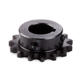 Chain Sprocket: 40 Chain, Hardened, Steel, 1/2 in Pitch, 12 Teeth, 1 in Bore Dia, 1/4 in Keyway Wd, 1/8 in Keyway Dp