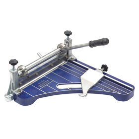 Tile Cutter: 12 in Blade Lg, 16 in Overall Lg, Steel, Cork Tile/Vinyl Tile, 45° Angles Cut, Aluminum