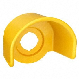 Eaton Push Button Guard: Guard Ring, 22 mm Compatible Panel Cutout Dia, Polyester, Yellow, For Push Buttons