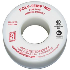 Pipe Thread Sealant Tape: Std, MIL-T-27730A, 1/2 in Wd, 260 in Lg, White, 2000 psi Max Op Pressure for Gases