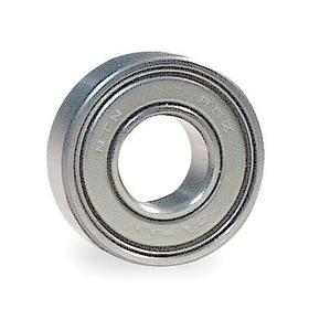 Radial Ball Bearing: Double Shielded, Inch, 52100 Ring Material Grade, Steel, R6 ZZ Bearing Trade, 3/8 in Bore Dia