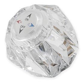 Faucet Handle: Round Handle, Acrylic, For 254Z108/281Z183/396Z965/795R450, Handle Kit, Replace Faucet Handle, 1 PR