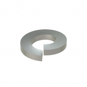 Split Lock Washer: 18-8 Stainless Steel, For 5/16 in Screw Size, 0.314 in ID, 0.583 in OD, 0.078 in Thickness, 50 PK