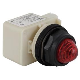 Schneider Electric Pilot Light: 120V AC/DC, Full Volt, For LED, Blue, Metal, Pressure Plate, AC/DC Current Type, Plastic