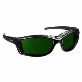 Honeywell Welding Safety Glasses: Full Frame , Shade 5.0, Anti-Fog, Black, ANSI Z87.1-2010/CSA Z94.3