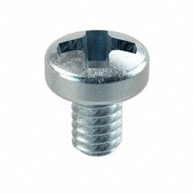 Pan Head Machine Screw: Steel, Zinc Plated, Phillips, M2 Thread Size, 3 mm Shank Lg, 100 PK