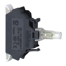 Schneider Electric Lamp Module with Bulb: For Schneider Electric 22mm Operators (ZB4, ZB5), 120V AC, Light Block, Red, LED