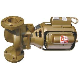 Hot Water Circulating Pump: 1/4 hp Input Horsepower, Continuous Motor Duty Class, Bronze, 1 Phase, 115V AC, Flanged
