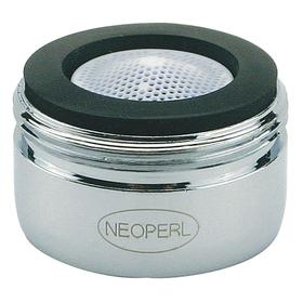 "Faucet Aerator: Spray, 0.35 gpm Flow Rate, 15/16""-27 Inlet Thread Size, Male, Acetal/Brass, NSF/ANSI 61, Silver, Housing"