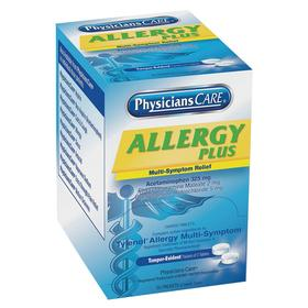 PhysiciansCare Cold & Allergy Medication: Packet, Tablet, No Flavor, 70 Haz Material Indicator, 50 PK