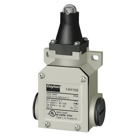 Heavy Duty Roller Plunger Limit Switch: Top, Zinc, 10 A @ 480V AC Current Rating, 1/2 in NPT Conduit Trade Size