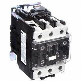 IEC Contactor: 3 Poles, Single/Three Phase, 95 A Current Rating, 120V AC Control Volt, 7 1/2 hp - Single Phase @ 120V