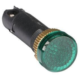 Pilot Light: Raised, Green, 24V AC, 1.77 in Overall Lg, Nylon