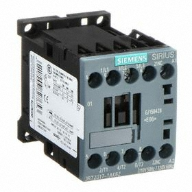 Siemens IEC Contactor: 3 Poles, Single/Three Phase, 12 A Current Rating, 1NC Auxiliary Contact Pole-Throw Configuration, 85364900 Commodity