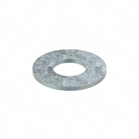 Oversized Flat Washer: Steel, Zinc Plated, Low Carbon Material Grade, For 1 1/8 in Screw Size, 1.25 in ID, 5 PK