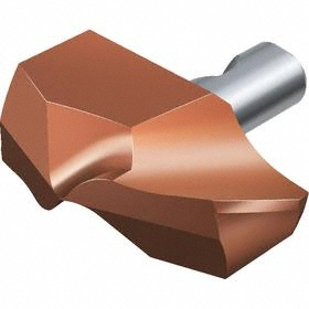 Sandvik Coromant Tip for Exchangeable-Tip Drill Bit: Steel, CoroDrill 870, 15 Seat Size, 15.10 mm Drill Dia, PVD, 2 PK