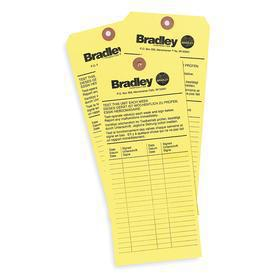 Bradley Inspection Tag: Paper