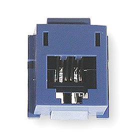 Hubbell Cat6 Modular Jack: 6 Position USOC, Gray, RJ45, Plastic, Female, 140° F Max Op Temp, 14° F Min Op Temp, 1 Ports
