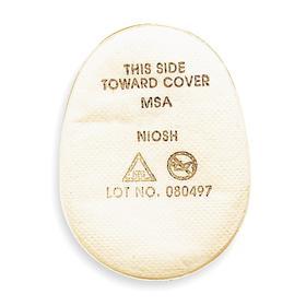 MSA Pre-Filter: N95 NIOSH Filter Rating, Bayonet, For Advantage Series, 10 PK