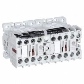 GE Miniature IEC Contactor: 3 Poles, Single/Three Phase, 6 A Current Rating, 120V AC Control Volt, Reversing, Miniature Body