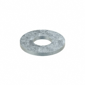 USS Flat Washer: Steel, Zinc Plated, Low Carbon Material Grade, For 1/4 in Screw Size, 0.313 in ID, 0.75 in OD, 100 PK
