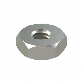 Machine Screw Hex Nut: 316 Stainless Steel, 8-32 Thread Size, 11/32 in Wd, 9/64 in Ht, 100 PK