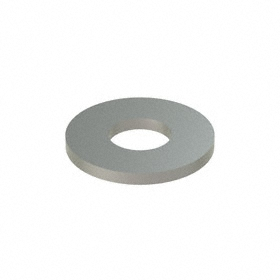 Oversized Flat Washer: 316 Stainless Steel, For 1/4 in Screw Size, 0.313 in ID, 0.75 in OD, 0.065 in Thickness, 50 PK