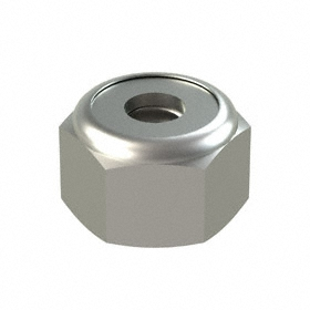 Nylon Insert Locknut: 18-8 Stainless Steel, 8-32 Thread Size, 23/64 in Wd, 1/4 in Ht, 50 PK
