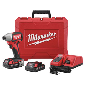 Milwaukee Heavy Duty Impact Driver: 18V, 1500 in-lb Max Working Torque, 3600 ipm Impact Rate, 2800 RPM Max Speed, Hex, Li-Ion
