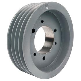 V-Belt Pulley: A/AX/B/BX Belt Section Size, 4 Grooves, For A-Section (4L, A & AX) & B-Section (5L, B & BX), Spoked, For SK
