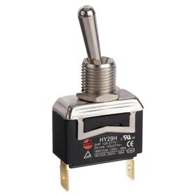 General Duty Toggle Switch: Non-Illuminated, 2 Positions, 20 A @ 125V AC Switch Rating, 2 Poles, On-Off, SPST