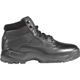 5.11 Leather Work Boot: Men, Plain, 6 in Shoe Ht, Leather/Nylon, Black, Gen Use, 12 Men's Size, D Shoe Wd, 1 PR