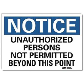 Lyle Security Sign: 10 in Overall Ht, 7 in Overall Wd, Decal, Self-Adhesive, Notice, English, Text, Safety Information