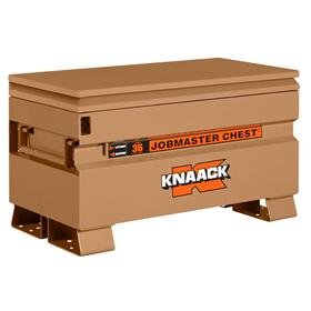 Knaack Jobsite Storage Box: 16 in Overall Ht, 36 in Overall Wd, 19 in Overall Dp, 7 cu ft Storage Capacity, Steel