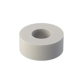 Nylon Spacer: Imperial, Natural, No. 6 Screw Size, 1/8 in Overall Lg, +/-0.015 in Overall Lg Tolerance, 1/8 in ID, 5/16 in OD, 10 PK