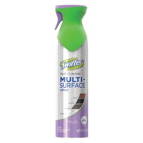Swiffer Dusting Compound: 9.7 oz Size, Aerosol Can, Lavender Vanilla, Furniture/Multiple Surfaces/Wood, Water, CAF, 6 PK