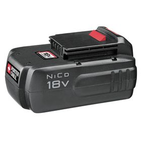 Cordless Tool Battery: NiCd, For Porter-Cable 18V Cordless Tools, 18V DC Output Volt, 1.5 Ah Capacity