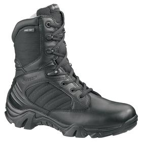 Bates Leather Work Boot: Men, Plain, 8 in Shoe Ht, Leather/Nylon, Black, Slip Resistant/Waterproof, Best Mfr Suggested Sole Slip Rating, 1 PR
