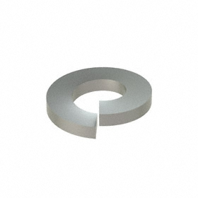 Split Lock Washer: 316 Stainless Steel, For 1/4 in Screw Size, 0.252 in ID, 0.487 in OD, 0.062 in Thickness, 50 PK