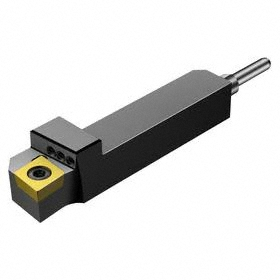 Sandvik Coromant Indexable Turning Toolholder: 1/2 in Shank Wd, 1/2 in Shank Ht, 2 75591/100000 in Overall Lg, Right Hand, Round