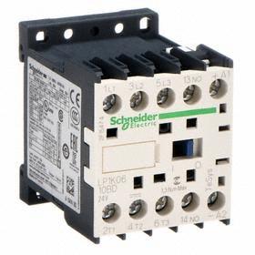 IEC Contactor: 24V AC Control Volt, 3 Poles, Single/Three Phase, 6 A Current Rating, 24V AC Input Volt, 1NO