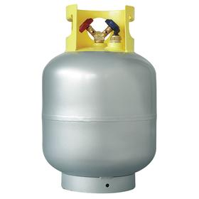 Refrigerant Recovery Cylinder: 50 lb Nominal Refrigerant Capacity, 0.25 Air Inlet Size, SAE