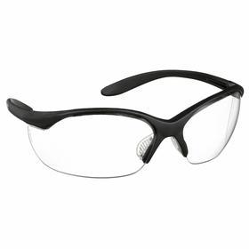 Honeywell Safety Glasses: Gray, Wraparound Frame, Anti-Fog/Scratch Resistant, Black, ANSI Z87.1-2010/CSA Z94.3-2007